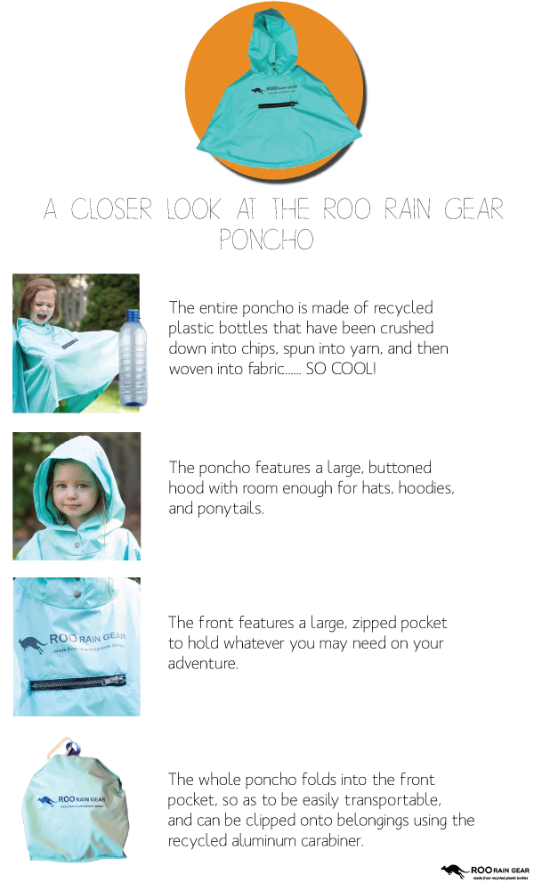 Details about the Roo Rain Gear Poncho
