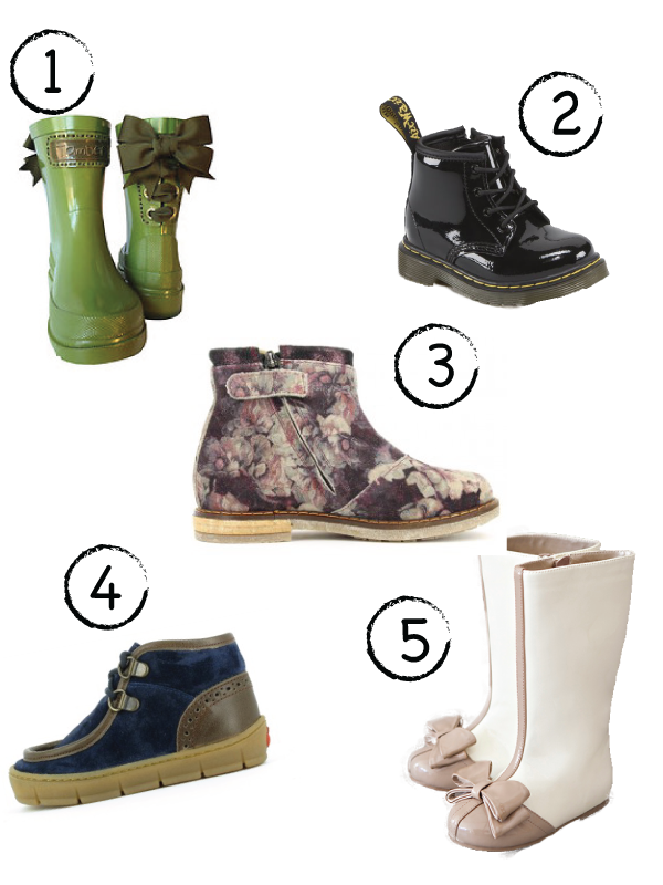 Cute kids boots for fall