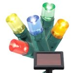 Solar Powered LED Coloured Christmas lights