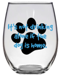 wine glass, dog lover, puppy. Valentine's Day gifts for dog lovers