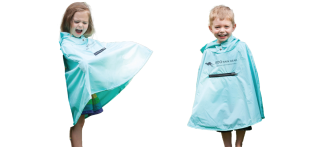 Roo Rain Gear made from recycled plastic bottles, ponchos, waterproof, eco-friendly, green products